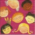 Guardanapo Children of the World - pink