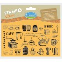 Carimbos Stampo Clear Cha/Cafe