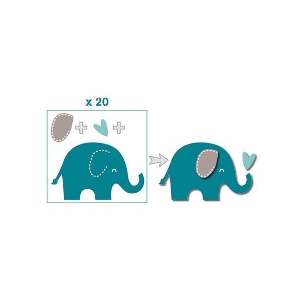 Formas Pr 233 Cortadas Die Cuts Elefantes Azul Toupeira