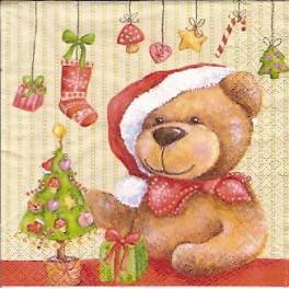 Guardanapo Urso De Natal Fofinho Kitty S Gifts Artes
